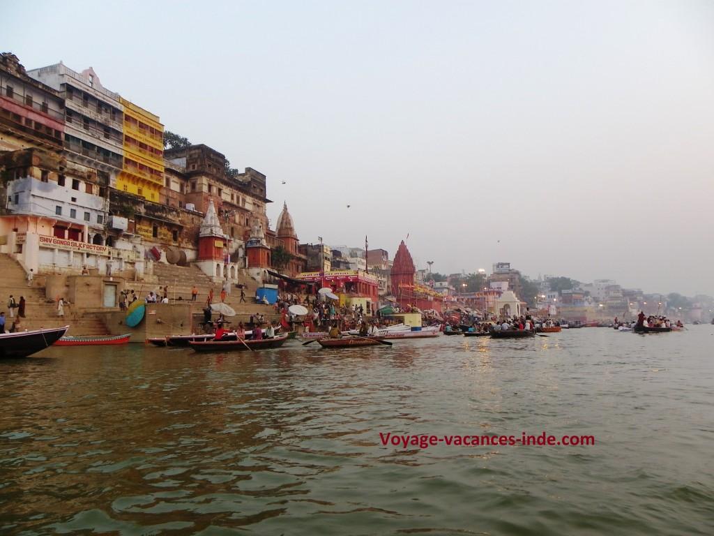 Les ghâts de Varanasi.